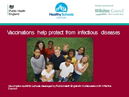 Vaccinations help protect from infectious diseases