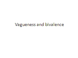 Vagueness and bivalence