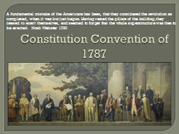 Constitution Convention of 1787