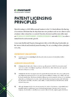 Patent licensing is a  billion annual business in the U