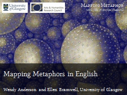 Mapping Metaphors in English PowerPoint PPT Presentation