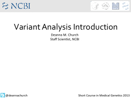 Variant Analysis Introduction