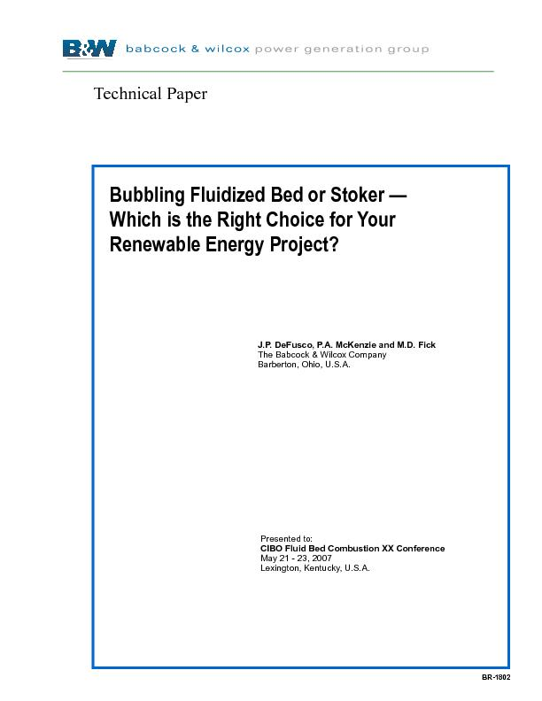 Bubbling Fluidized Bed or Stoker — Which is the