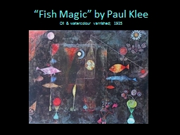 """Fish Magic"" by Paul PowerPoint Presentation, PPT - DocSlides"