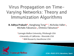 Virus Propagation on Time-Varying Networks: Theory and Immu