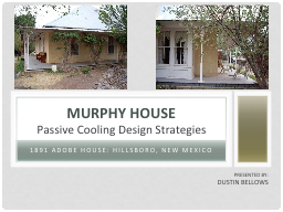1891 adobe House: Hillsboro, New Mexico