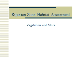 Riparian Zone Habitat Assessment