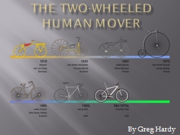 The Two-Wheeled Human Mover