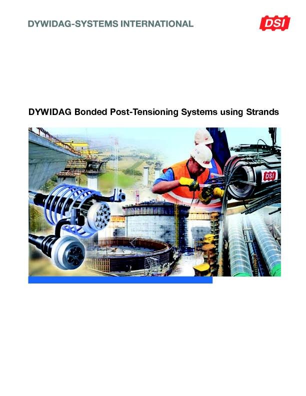 Bonded Post Tensioning : Dywidag bonded post tensioning systems using strands pdf