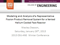 Modeling and Analysis of a Representative Fission Product R