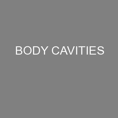 BODY CAVITIES PowerPoint PPT Presentation