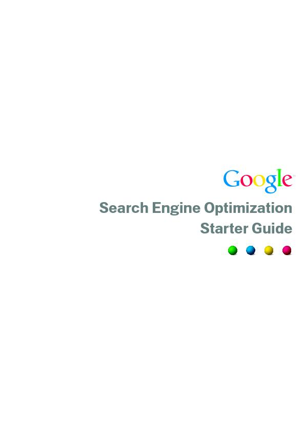 Search Engine Optimization guide from Google