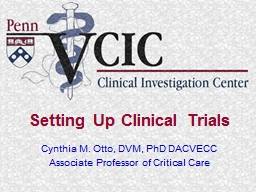 Setting Up Clinical Trials PowerPoint PPT Presentation