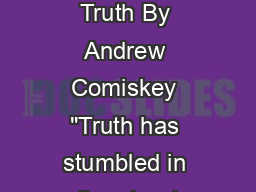 Telling the Truth By Andrew Comiskey