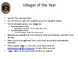 Villager of the Year