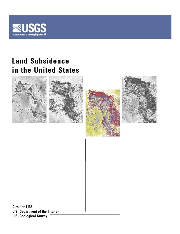 Land Subsidencein The United Statesu S Department Of The Interior U S Pdf Document Docslides