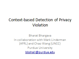Context-based Detection of Privacy Violation
