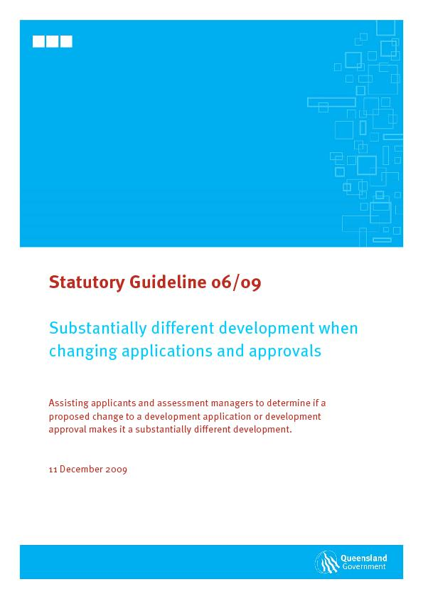 proposed change to a development application or development approval m