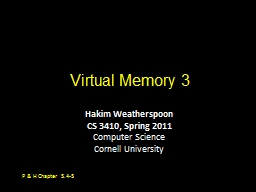 Virtual Memory 3 PowerPoint PPT Presentation