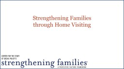 Strengthening Families PowerPoint PPT Presentation