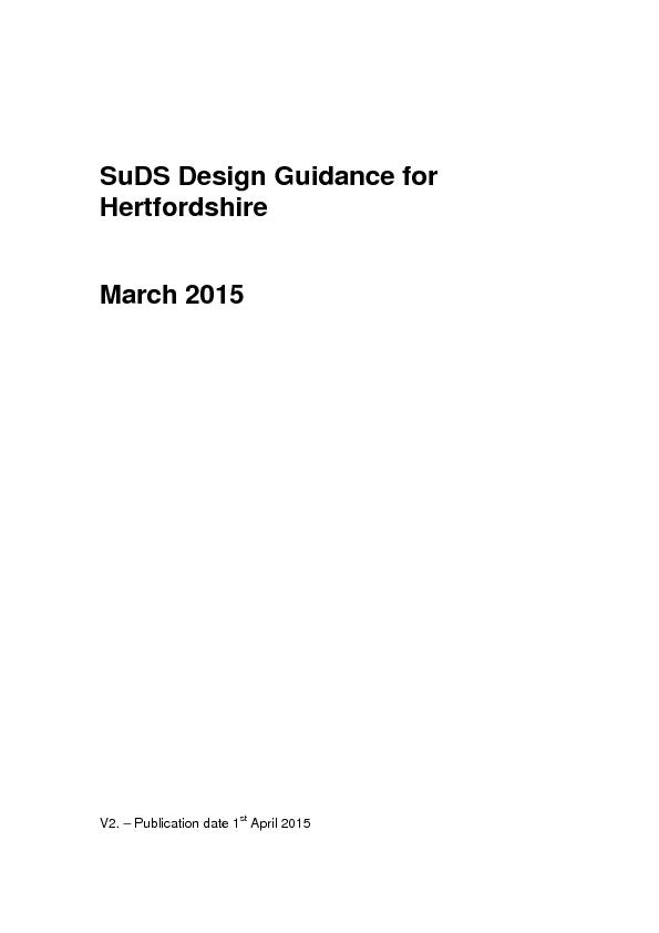 SuDS Design Guidance for PDF document - DocSlides