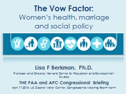 The Vow Factor: PowerPoint PPT Presentation