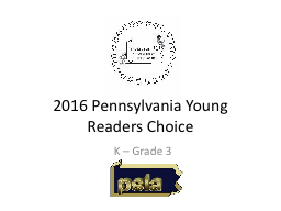 2016 Pennsylvania Young Readers Choice