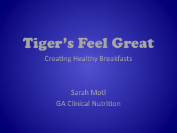 Tiger's Feel Great
