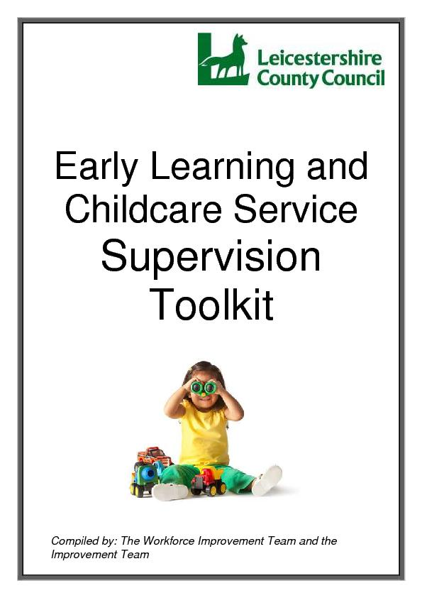 Early Learning and Childcare ServiceSupervisionToolkit
