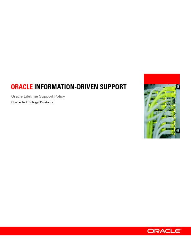Oracle Lifetime Support Policy