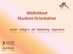 WalkAbout PowerPoint PPT Presentation
