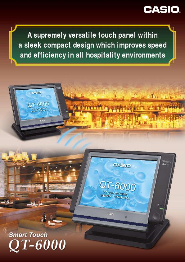 A supremely versatile touch panel withina sleek compact design which i