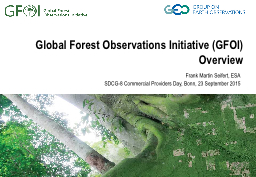 Global Forest Observations Initiative (GFOI)