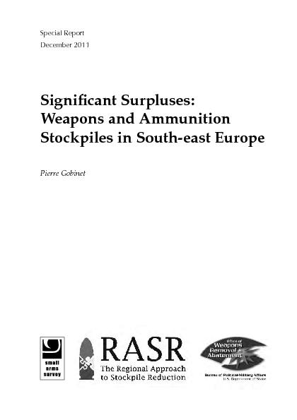Small Arms Survey Special Report