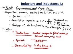 Matthias Liepe  Recap Lecture   Today More on magnetic induction HQVODZ Inductors and their inductance   law To determine the direction of the induced current in the loop use