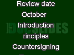 Delegating record keeping and countersigning records Guidance for nursing sta Review date October   Introduction rinciples Countersigning Resources Contents RCN Legal Disclaimer This publication cont
