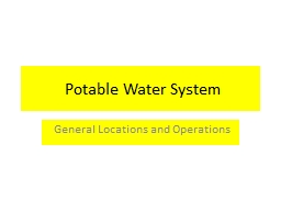 Potable Water System PowerPoint PPT Presentation