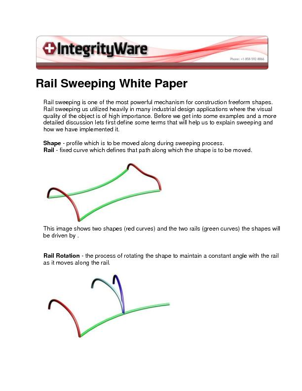 Rail Sweeping White Paper
