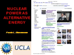 NUCLEAR POWER AS ALTERNATIVE ENERGY PowerPoint PPT Presentation