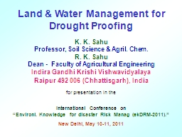Land & Water Management for Drought Proofing