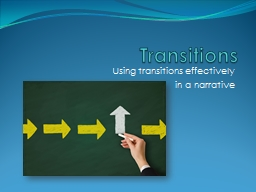 Transitions PowerPoint PPT Presentation