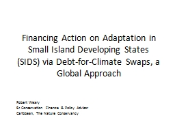 Financing Action on Adaptation in Small Island Developing S