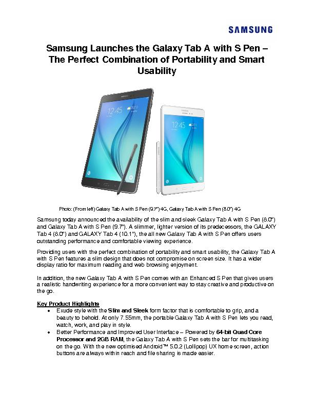 Samsung Launches the Galaxy Tab A
