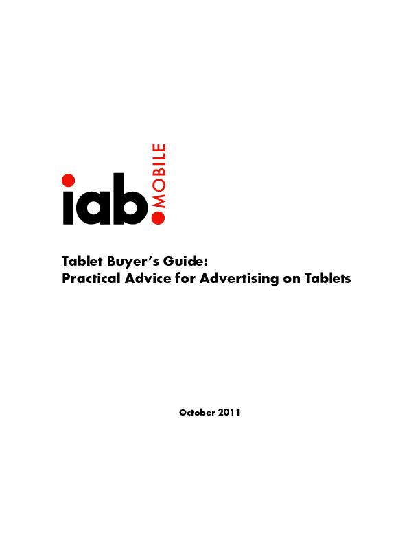 Tablet Buyers Guide: