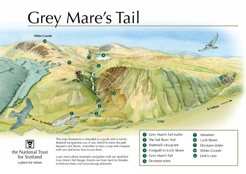 Grey Mare's Tail trailerThe Tail Burn 'fort'Waterfall v