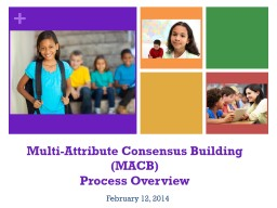 Multi-Attribute Consensus Building (MACB)