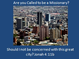 Are you Called to be a Missionary?