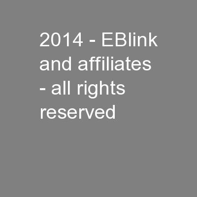 2014 - EBlink and affiliates - all rights reserved