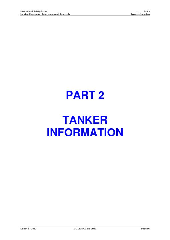 International Safety Guide   Part 2 for Inland Navigation Tank-barges