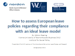 How to assess European leave policies regarding their compl PowerPoint PPT Presentation